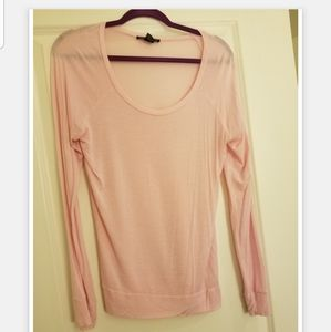 Pink Long Sleeved Top